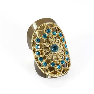 Adjustable Rhinestone Ring Full Rhinestone GOLD Vintage Collection 67867