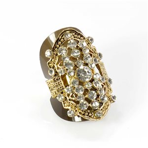 Adjustable Rhinestone Ring Full Rhinestone GOLD Vintage Collection 67900