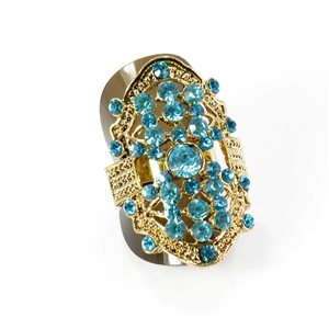 Adjustable Rhinestone Ring Full Rhinestone GOLD Vintage Collection 67905