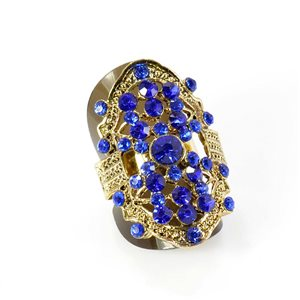 Adjustable Rhinestone Ring Full Rhinestone GOLD Vintage Collection 67907