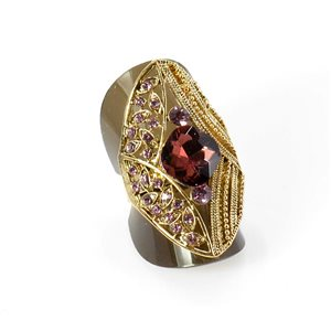 Bague Strass réglable Full Strass GOLD Vintage Collection 67922