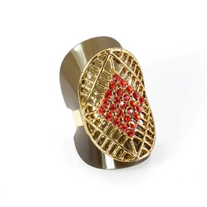 Bague Strass réglable Full Strass GOLD Vintage Collection 67937