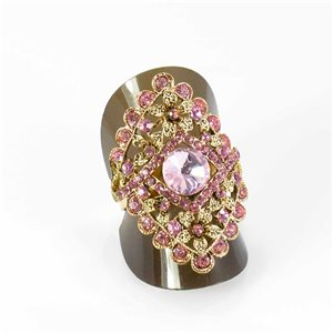 Adjustable Rhinestone Ring Full Rhinestone GOLD Vintage Collection 67956