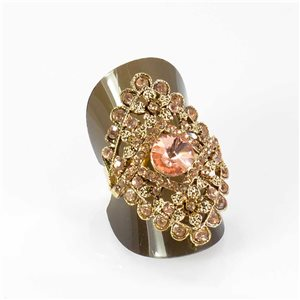 Bague Strass réglable Full Strass GOLD Vintage Collection 67960