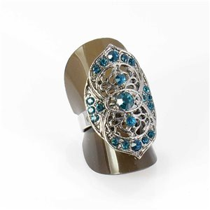 Bague Strass réglable Full Strass SILVER Vintage Collection 67966