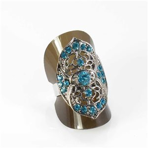 Bague Strass réglable Full Strass SILVER Vintage Collection 67968