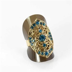 Bague Strass réglable Full Strass GOLD Vintage Collection 67975