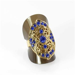 Adjustable Rhinestone Ring Full Rhinestone GOLD Vintage Collection 67979