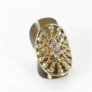Adjustable Rhinestone Ring Full Rhinestone GOLD Vintage Collection 67990