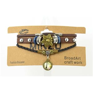 Multi Row Bracelet Leather sliding knot on New Collection 69485