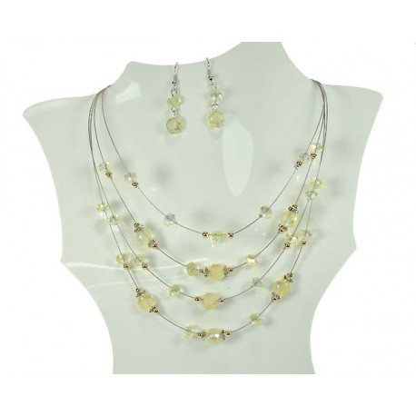Adornment Collier Suspension 4 Rank 59945 Beads