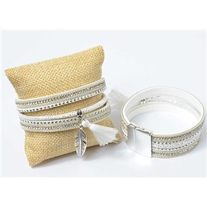 Strass Pompon Bracelet magnetic clasp cuff Effect New Collection 69647