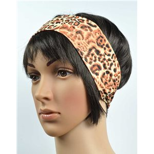 polyester hair band fashion panther width 7cm 70721