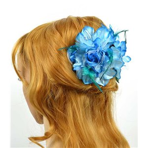 Clip crab Hair Feathers Fashion 8cm and 13cm Rose Flower 70610