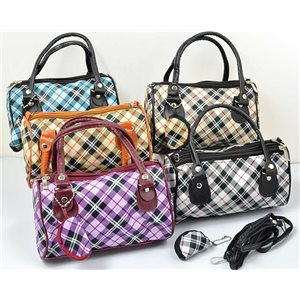 set of 5 PVC handbags l19-H12cm and matching wallet 70916