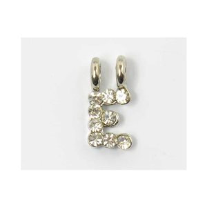 Initial Pendant full rhinestone 8mm name necklace letter e 69827