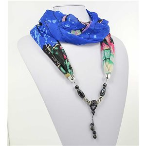 polyester scarf necklace jewelry new collection 2017 71007