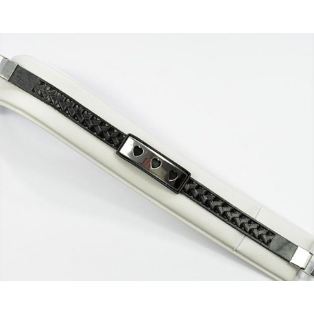 Bracelet Stainless Steel and Silicone twisted appearance 64301