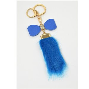 Gold metal door keys set with Rhinestones Bag Jewelry tassel fur 71307