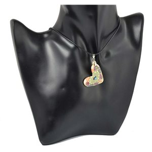 Necklace with pendant Polymere and Rhinestone pendant 70466