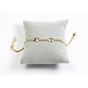 Bracelet Strass Chic L19-23cm Collection métal doré 65898