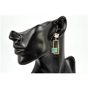 Earrings Rhinestones and Turquoise Jewelry nail-lock 72336
