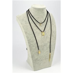 Necklace Appearance Velvet look L33 / 38cm + lace 1m20 72356
