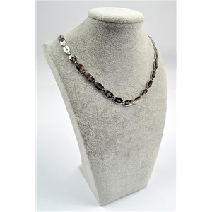 Collier Chaine en Acier inoxydable L50cm Steel Color New Collection 72754
