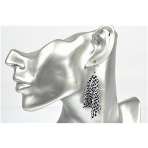 1p Boucles Oreilles métal maille souple Mode Disco New Collection 72839