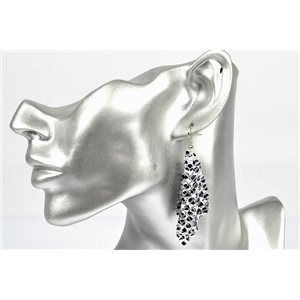 1p Boucles Oreilles métal maille souple Mode Disco New Collection 72840