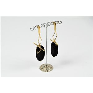 1p Earrings Earrings with Nail metal color Gold Collection Graphika 73180