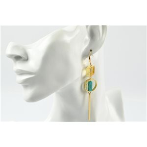 1p Earrings Metallic Earrings Gold color Reconstituted stone Collection MilaLina 73186