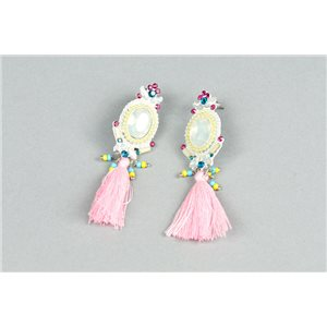 1p Boucles Oreilles à Clou serti de Strass Collection ATHENA 73422