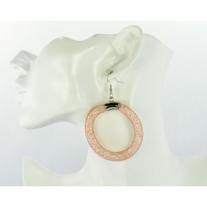 1p Hoop Earrings Fashion Fishnet Strass 50mm 65647