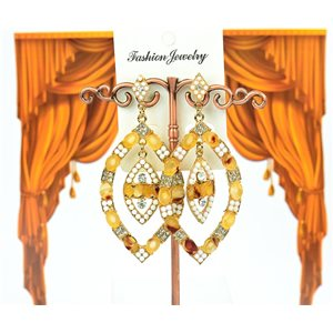 1p Boucles Oreilles à clou sertie de Strass Collection ATHENA 8cm 75224