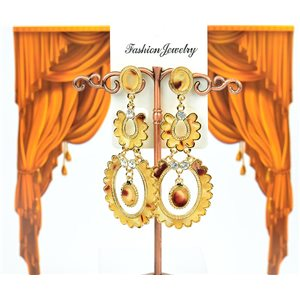 1p Boucles Oreilles à clou sertie de Strass Collection ATHENA 8cm 75225