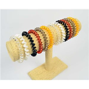 Lot of 10 Bracelets or Scrunchie Phone son in acrylic 6 Colors 75187