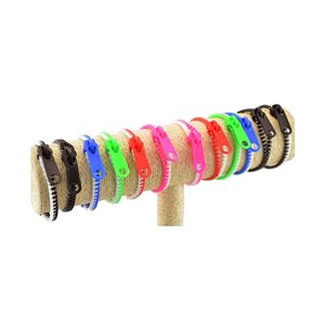 Lot de 12 Bracelets ZIP FLUO 6 Couleurs 62780
