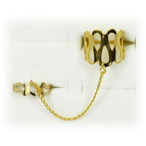 Double gold metal ring 60964 adjustable Phalanges