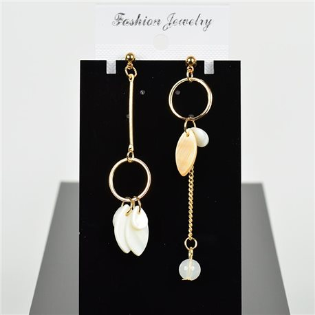 1p Earring Drop Earrings 8cm Metal Gold Color New Graphika Style 75706