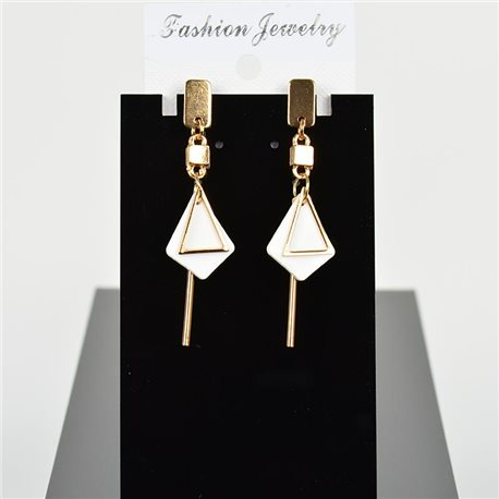 1p Earring Drop Earrings 6cm Metal Gold Color New Graphika Style 75704