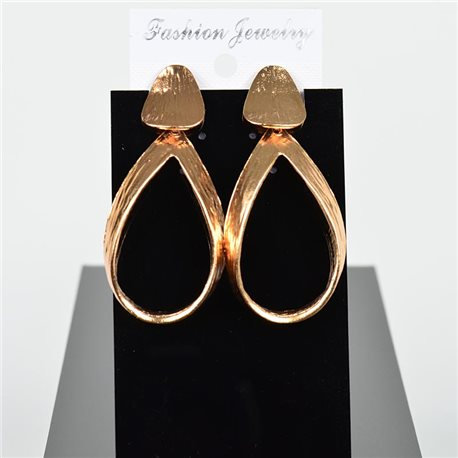 1p Earring Drop Earrings 6cm Metal Gold Color New Graphika Style 75730