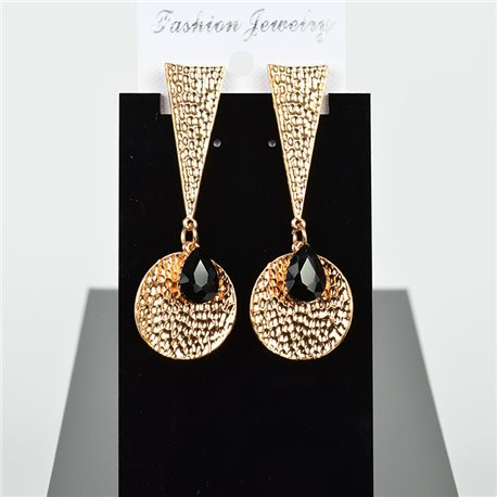 1p Earring Drop Earrings 7cm Metal Gold Color New Graphika Style 75736