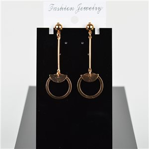 1p Earring Drop Earrings 6cm Metal Gold Color New Graphika Style 75698