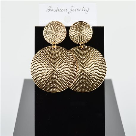 1p Earring Drop Earrings 6cm Metal Gold Color New Graphika Style 75724