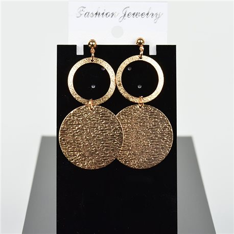 1p Earring Drop Earrings 6cm Metal Gold Color New Graphika Style 75728