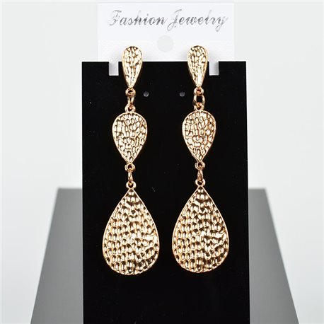 1p Earring Drop Earrings 8cm Metal Gold Color New Graphika Style 75732