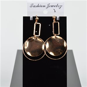1p Earring Drop Earrings 6cm Metal Gold Color New Graphika Style 75753