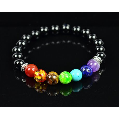 Charm Bracelet 7 Chakras Natural Stone New Collection 75780