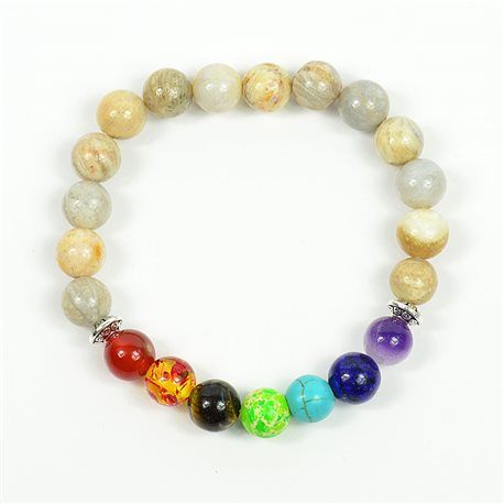 Charm Bracelet 7 Chakras Natural Stone New Collection 75790